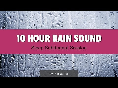 Say No to Being Lonely & Attract Friends - (10 Hour) Rain Sound - Sleep Subliminal - By Thomas Hall