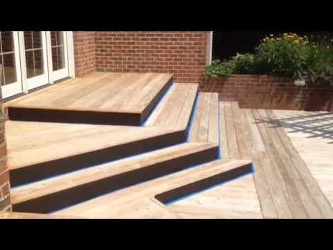 Deck staining job must see/ Mr. Fix-All