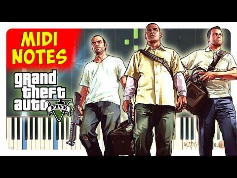 GTA 5 - Opening Theme Song EASY Piano Cover (Piano Sheet + midi)