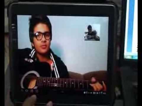 Online Student M.Ali Zulfiqar (Saudi) learning and playing Tuje dekaha to ye jana sanam