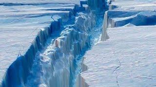 Larsen C of Antarctica Iceberg: is on the verge of rupture.