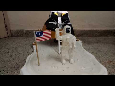 School Project - Neil Armstrong in Moon Model (www.schoolprojectcenter.in)