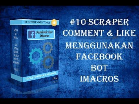 #10 Scrape Comment & Like Facebook Bot iMacros