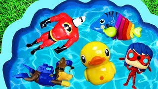Learning Colors with Paw Patrol, Pj Masks, The Incredibles, Lady Bug Learn with Beads for Kids