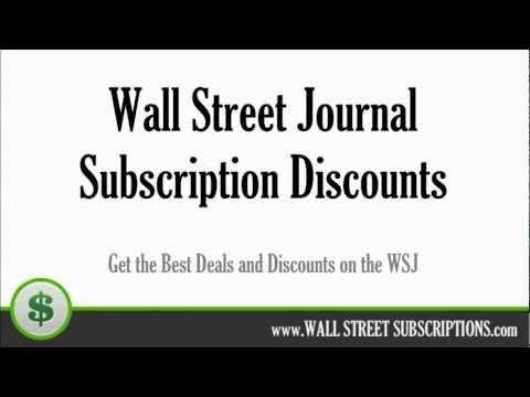 Wall Street Journal Subscription Discount & WSJ Subscription Deals