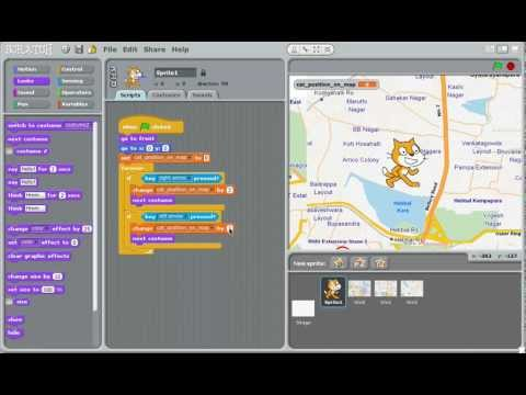 Scratch: How to make a side-scrolling game with a tiled background