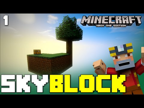 Minecraft Xbox One: Skyblock Survival - Episode 1! (Cobblestone Generator)