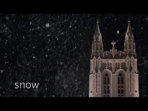 Snow at Boston College