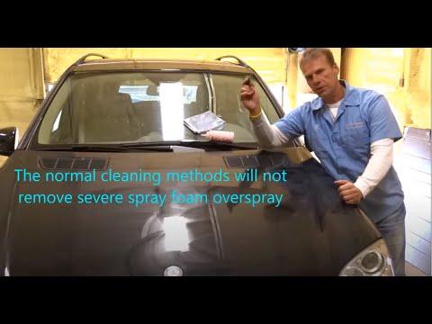 How to remove spray-foam overspray
