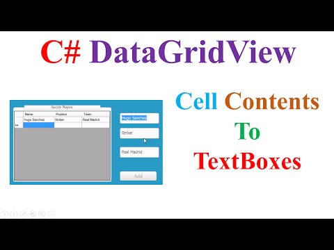 C# DataGridView-  Cell Contents  To TextBoxes