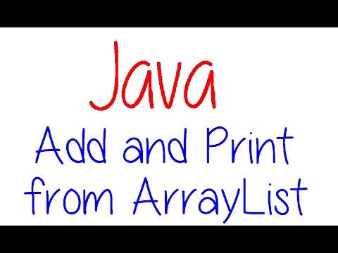 Java Programming: Arraylist - Add Elements and Print List (Win 10)