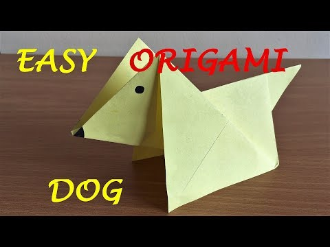 How to Make an Origami Dog (Very Easy)