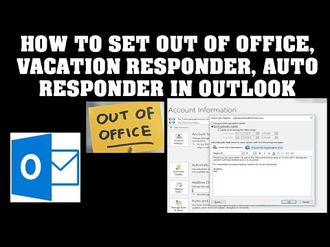 Outlook 2016 Setting Up Automatic Out of Office Replies