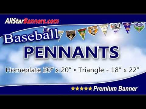 Baseball Banners with Matching Team Pennants