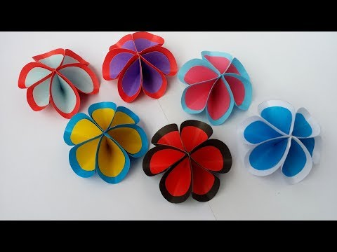 DIY: How to Make Easy & Beautiful Origami Paper Flower!!!