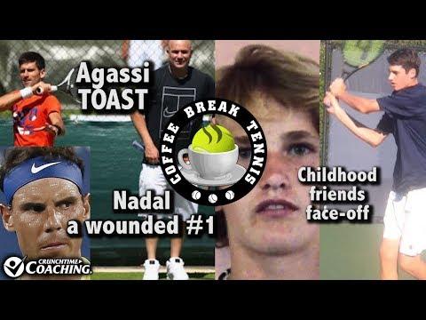 Nadal #1, Agassi BOONDOGGLE, Isner helped mentor Zverev, Fed 90 | Coffee Break Tennis