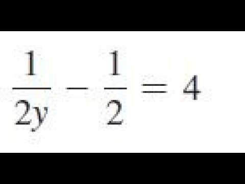 1/2y - 1/2 = 4, solve the given equations and check the results.