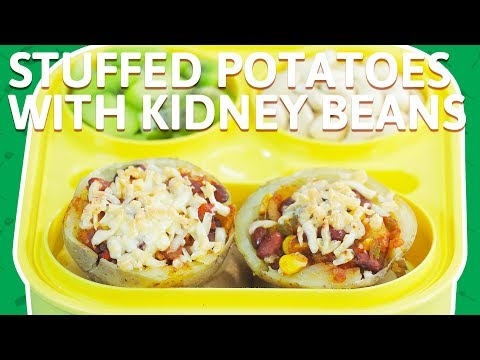 Cheese Stuffed Potatoes Balls   Potatoes With Corn & Kidney Beans   Baked Potato Recipe For Kids