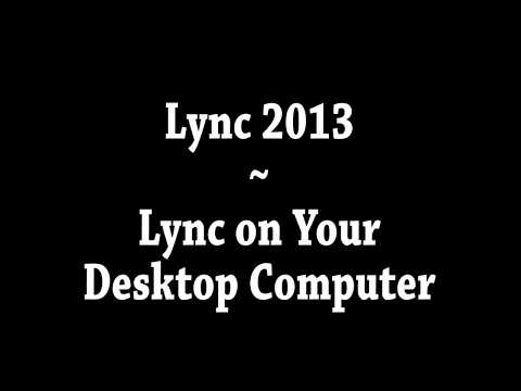 Skype for Business (formerly Lync) on your Computer at Trinity