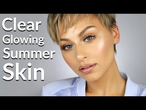 Clear Glowing Summer Skin Tutorial 2018 | Alexandra Anele
