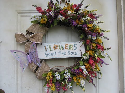 How To Make Carmen's Flowers Feed The Soul Grapevine Wreath