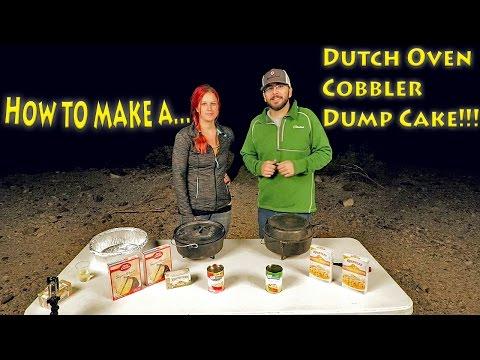 Dutch Oven Cobbler Dump Cake Recipe While Camping