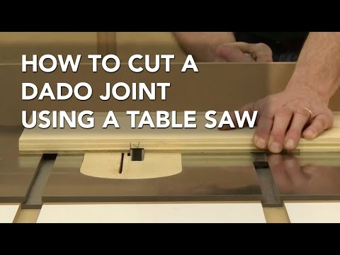 How to Cut a Dado with a Table Saw