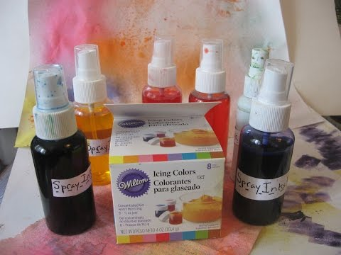 How to make DIY/ Homemade Spray inks(with Wilton Gel Food Coloring)Homemade Alcohol Inks/