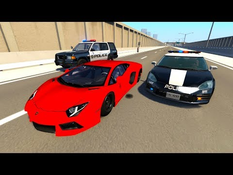 Crazy Police Chases Compilation BeamNG Drive (BeamNG Drive Crashes)