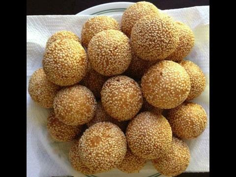 how to make Sesame Balls Lao food  ເຂົ້າຫນົມໂອໂລ້