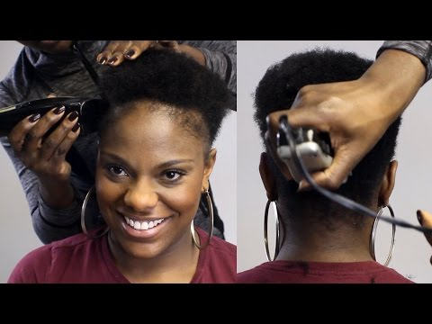 Watch Me Taper Cut Her Natural Hair!! (BEAUTYCUTRIGHT)
