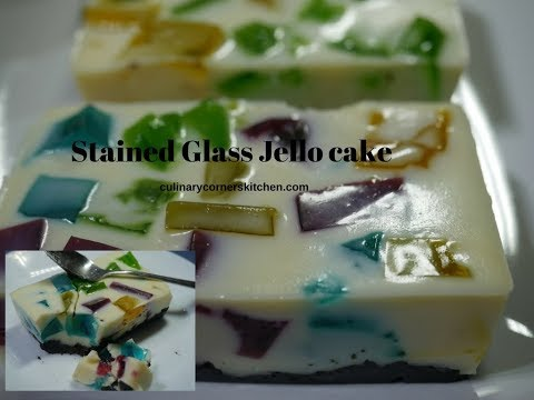 Stained Glass Jello Cake