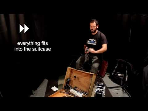 Mounting a drum kit with a suitcase bass drum