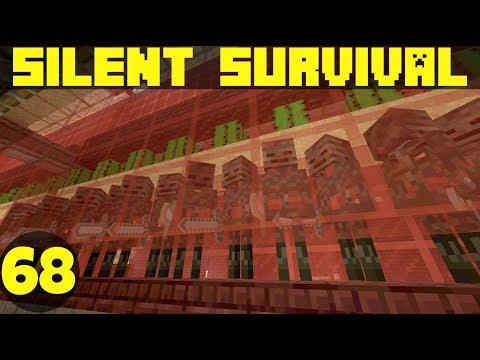 Silent Survival Ep68: Wither Farm Upgrades! Minecraft Vanilla Survival