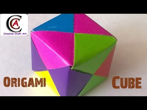 How to Fold an DIY : Origami 3D Cube Quilling Paper Art