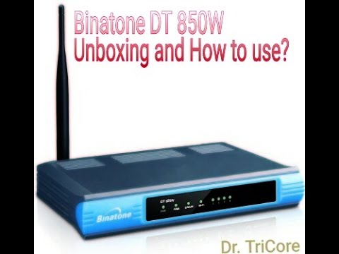 Binatone DT 850W wifi modem and Router unboxing and how's it work? {Hindi}