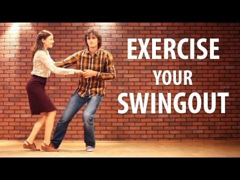 SWINGOUT EXERCISES. Learn swing out. Lindy hop lesson. Свингаут