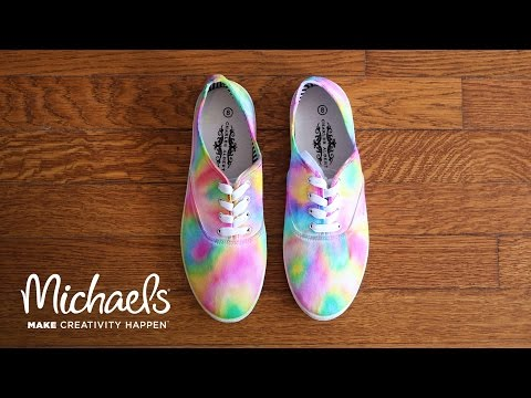 DIY: Sharpie Tie Dye Shoes | Michaels