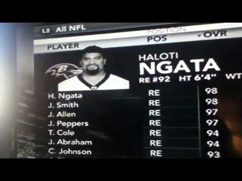 Top players at each position In  madden NFL 12