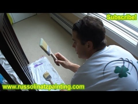 DIY Nursery Painting - Accent Wall & Horizontal Stripes (Part 5)