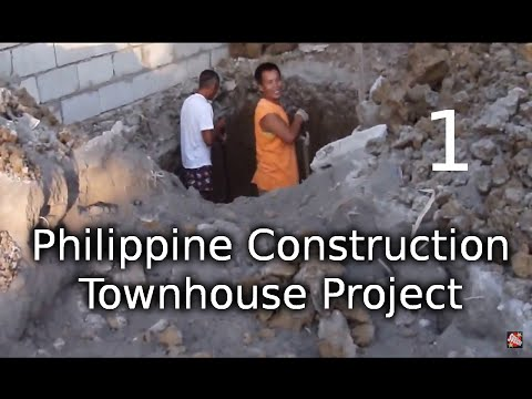 Philippine Construction - Townhouse Project part 1 0f 2