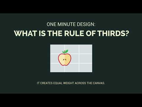 One Minute Design: What is the Rule of Thirds?
