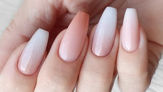 BEST WEDDING NAILS MERLIN NAILS INSPIRATION FRENCH OMBRE ELEGANT NAILS