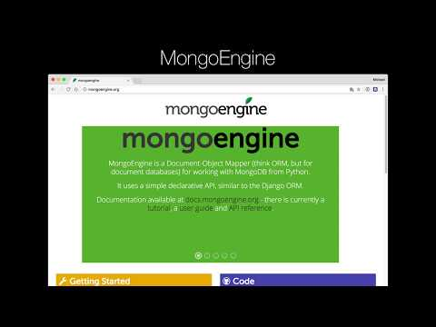 MongoDB and Python Quickstart (2/21): Introduction to mongoengine