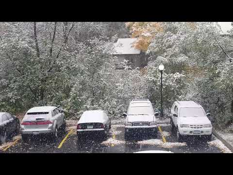 Snow Strom in October 2018, Minneapolis MN.