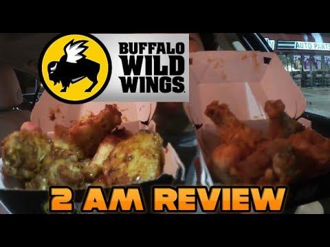 Buffalo Wild Wings at 2 AM - Caribbean Jerk and Medium Heat Wings REVIEW! #100