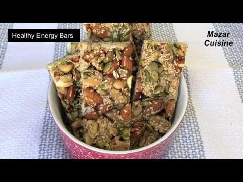 Healthy Energy Bars Recipe, Healthy  Snack , Protein Bar Energy Nuts Bar ,,Ramzan ,Special, Recipes