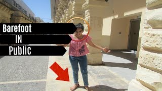 My First Vlog and I Am Barefoot In PUBLIC- AyaHere