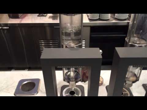 Alpha Dominche Steampunk Coffee Brewer Demo At Sambalatte Vegas 6-4-14