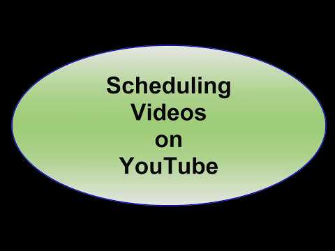 How to Schedule YouTube Videos